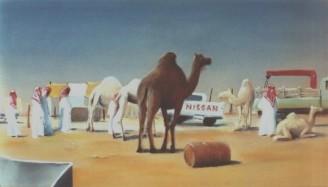 Kamelen markt by Riyadh